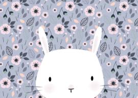 Kaart | bunny violet blue | Little Vanilla
