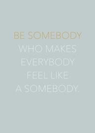 Kaart | Be somebody | Vormgevoel
