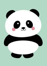 Kaart | Panda mint | Studio Inktvis