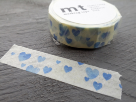 MT masking tape | heart stamp blue