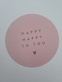 Sticker Happy Happy to You | roze