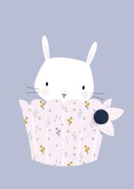 Little Vanilla | bunny cupcake violet blue | Little Vanilla