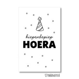 Minikaart | hieperdepiep HOERA | MIEKinvorm