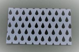 Cadeauzakje | wit met zwarte druppel