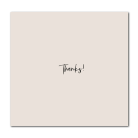 Dubbele kaart   Thanks!   Stationery & Gift