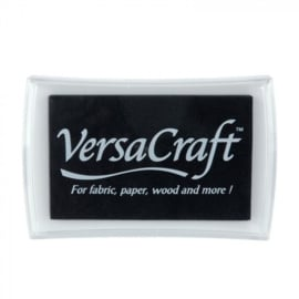 VersaCraft | stempelkussen | real black | 75 x 48 mm