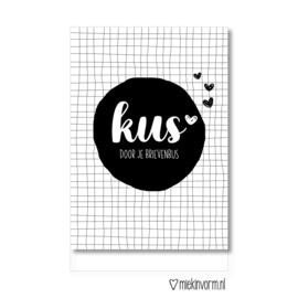 Kaart | Kus door je brievenbus | MIEKinvorm