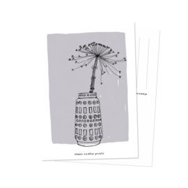 Kaart | vaas met berenklauw | Studio Rainbow Prints
