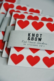 Hartstickers   rood   Knot & Bow