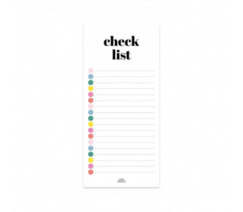 Notitieblok | Checklist | Studio Stationery