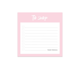 Notitieblokje | To shop | Studio Stationery