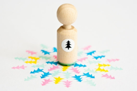 Mini stempel | kerstboom | Miss Honeybird