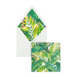Dubbele kaart | Hawaï blanco | Creative Lab Amsterdam