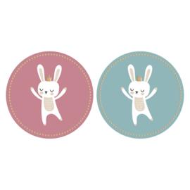 Stickers | baby bunny met accenten in goudfolie | HOP.
