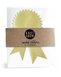 Award sticker | goud | Knot & Bow