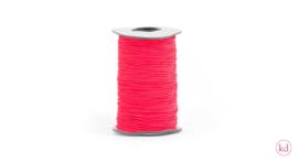 Koord   elastisch   neon oranje 1 mm
