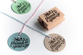 Stempel rechthoek | Thank you | Miss Honeybird