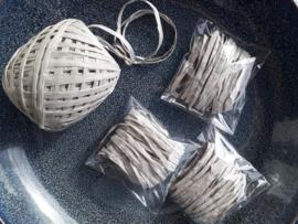 Lint | raffia | zilvergrijs