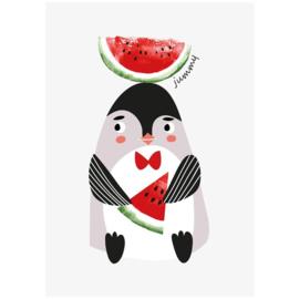 Kaart | Smullende Pinguïn | Sparkling Paper