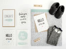 Bloeikaart | Hello little girl | Kekootje