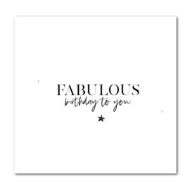 Dubbele kaart | Fabulous birthday to you | Stationery & Gift