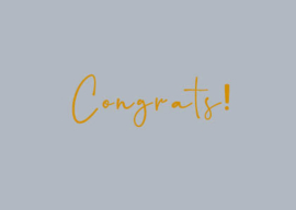 Kaart | Congrats! | Stationery & Gift