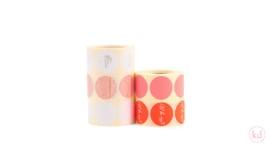 Sticker   neon oranje-witte streep