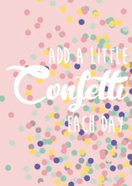 Kaart | Add a little confetti to each day | Studio Inktvis
