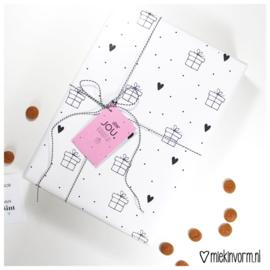 Inpakpapier | cadeautje | MIEKinvorm