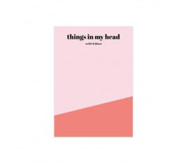 Notitieblok | Things in my head | Studio Stationery