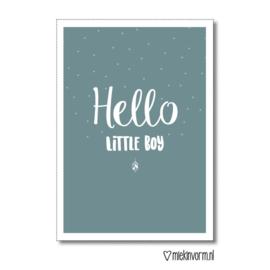 Dubbele kaart | Hello little boy | MIEKinvorm