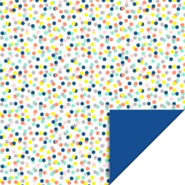 Cadeaupapier | confetti fluor | HOP.