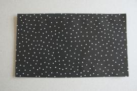 Cadeauzakje | zwart met witte stipjes