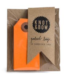 Cadeaukaartjes | oranje | Knot & Bow