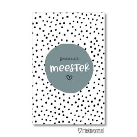 Minikaart | Bedankt meester | MIEKinvorm