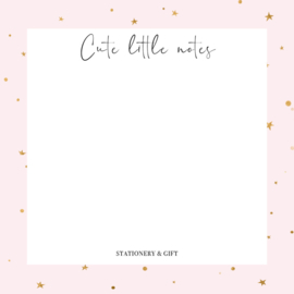 Notitieblok | Pink stars | Stationery & Gift