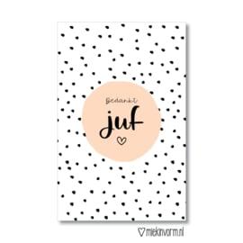 Minikaart | Bedankt juf | MIEKinvorm