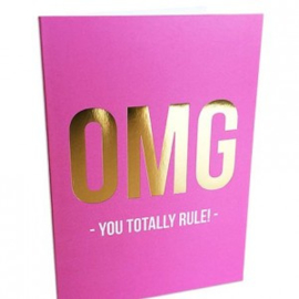 Dubbele kaart | OMG - You totally rule | Studio Stationery
