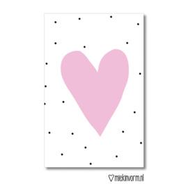 Minikaart | hart | MIEKinvorm