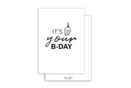 Kaart | It's your B-day | Nynke Ontwerpt