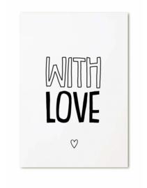 Cadeaukaartje   With Love   Zoedt