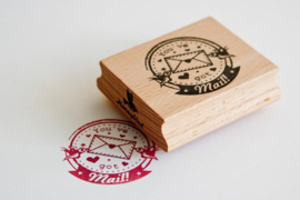 Stempel vierkant | You've got mail! | Miss Honeybird