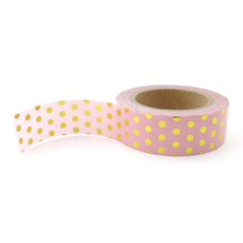 Washi tape | roze goudfolie stip | Studio Stationery