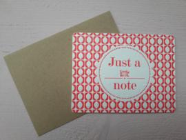 Kaart | Just a little note | &anne