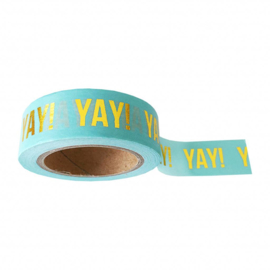 Washi tape | mint goudfolie Yay! | Studio Stationery
