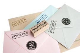 Stempel rechthoek | Invitation | Miss Honeybird