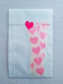 Sticker | mini hartje | neon roze