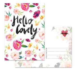 Kaart | Hello lovely | Little Lefty Lou