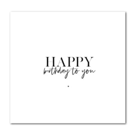 Dubbele kaart | Happy birthday to you | Stationery & Gift