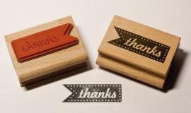 Stempel rechthoek | thanks | Miss Honeybird